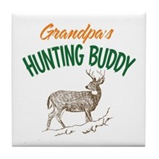 Grandpa's Hunting Buddy Tile Coaster