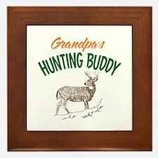 Grandpa's Hunting Buddy Framed Tile