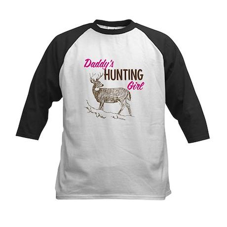 Daddy's Hunting Girl Kids Baseball Jersey