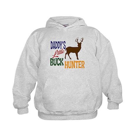 Daddy's Little Buck Hunter Kids Hoodie