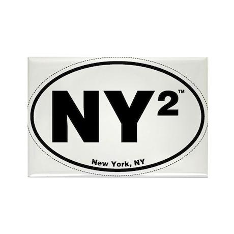 New York Rectangle Magnet
