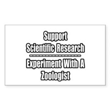 """""""Experiment with Zoologist"""" Rectangle Decal"""