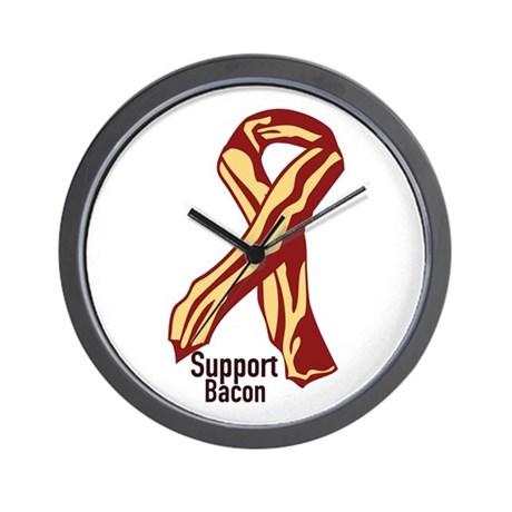 Support Bacon Wall Clock