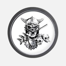 Skull Warrior Wall Clock