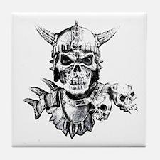Skull Warrior Tile Coaster