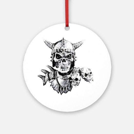 Skull Warrior Ornament (Round)