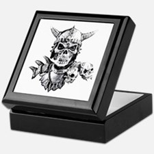 Skull Warrior Keepsake Box