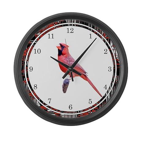 Majestic Cardinal Large Wall Clock