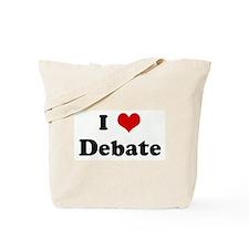 I Love Debate Tote Bag