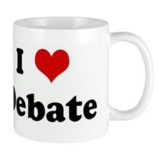 I Love Debate Mug