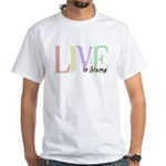 Live to Stamp White T-Shirt