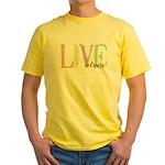 Live to Create Yellow T-Shirt