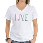 Live to cook Women's V-Neck T-Shirt