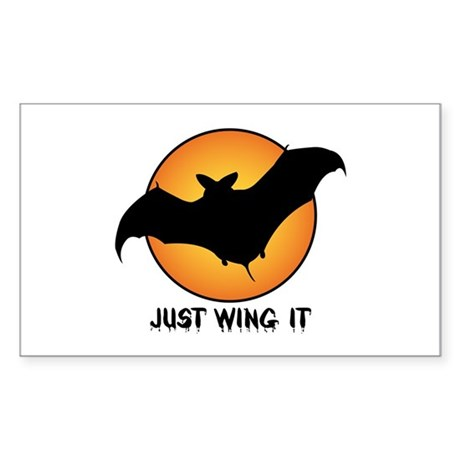 """""""Just Wing It"""" Rectangle Sticker"""
