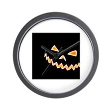 Scary Pumpkin Wall Clock