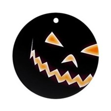 Scary Pumpkin Ornament (Round)