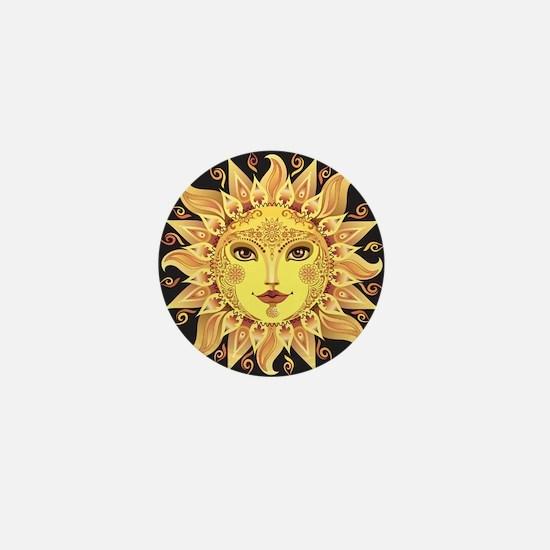 Stylish Sun Mini Button