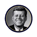 "JOHN F. KENNEDY MEMORIAL BUTTON Obama 3.5"" Bu"