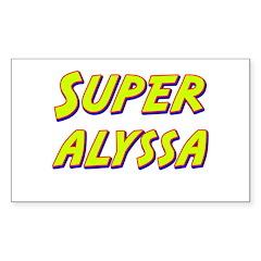 Super alyssa Rectangle Decal