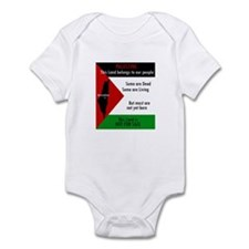 Palestine green black white a Infant Bodysuit