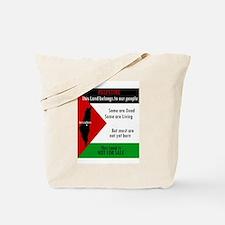 Palestine green black white a Tote Bag