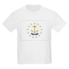 Rhode Island Flag Kids T-Shirt