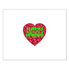 AMERICA Christmas Heart Posters