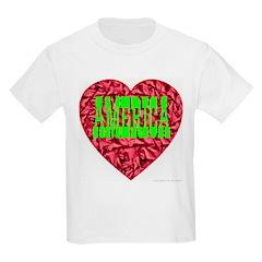 AMERICA Christmas Heart Kids T-Shirt