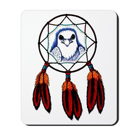 Hawk Dreamcatcher Tattoo Mousepad