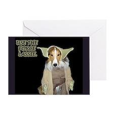 Yoda Collie Greeting Card