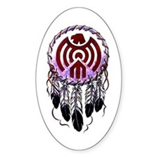 Native American Dreamcatcher Oval Decal