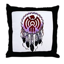 Native American Dreamcatcher Throw Pillow
