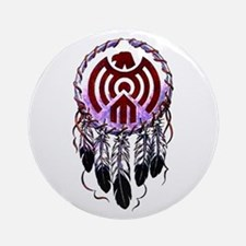 Native American Dreamcatcher Ornament (Round)