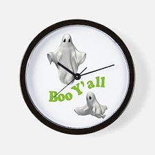 BOO Y'ALL Wall Clock