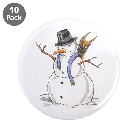 "CF Snowman 3.5"" Button (10 pack)"