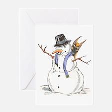 CF Snowman Greeting Card