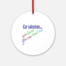 Car salesman Ornament (Round)