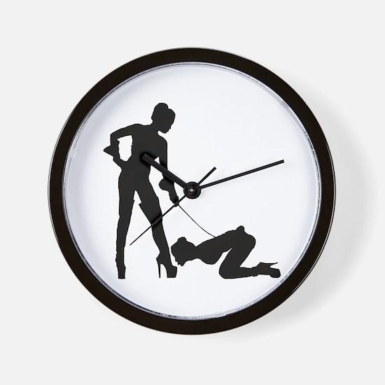 Lesbian Mistress Wall Clock