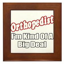 """""""Orthopedist...Big Deal"""" Framed Tile"""