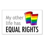 My Other Life Rainbow Rectangle Sticker 50 pk)