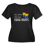 My Other Life Rainbow Women's Plus Size Scoop Neck