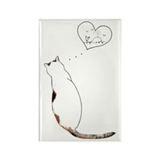 kitty dream Rectangle Magnet