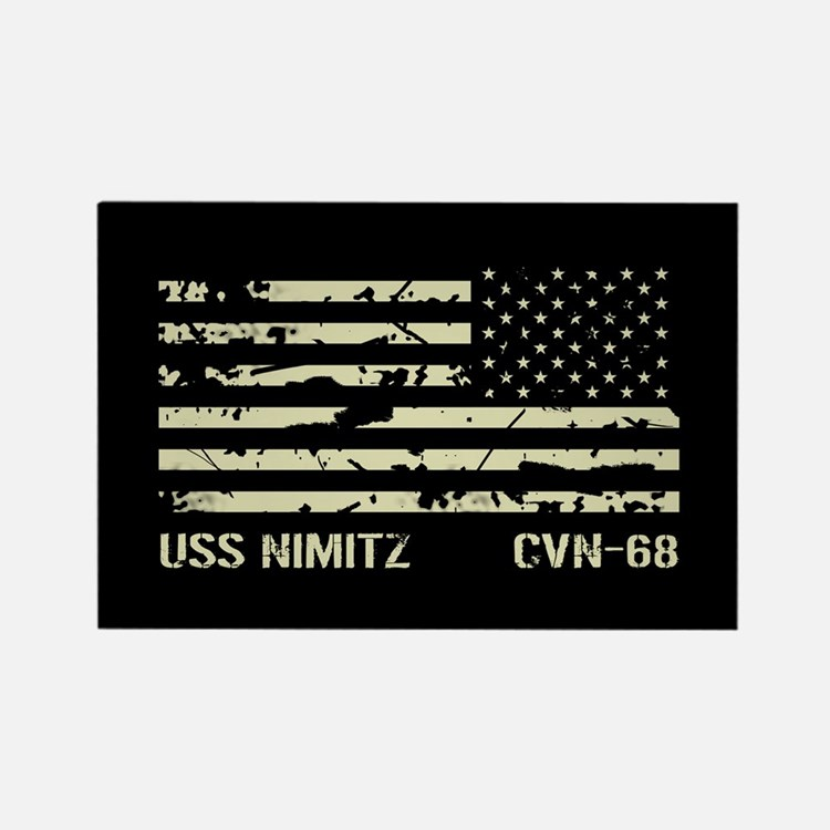 USS Nimitz Rectangle Magnet