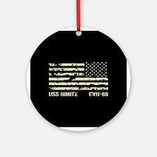 USS Nimitz Round Ornament
