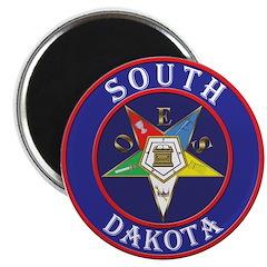 """Order of the Eastern Star of South Dakota 2.25"""" Ma"""