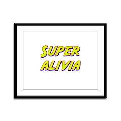 Super alivia Framed Panel Print