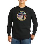 XmasMagic/2 Std Poodles Long Sleeve Dark T-Shirt