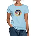XmasMagic/2 Std Poodles Women's Light T-Shirt