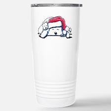 Exhausted Holiday Westies Travel Mug