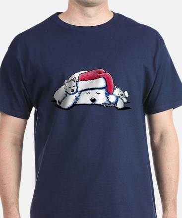 Exhausted Holiday Westies T-Shirt